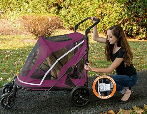 Pet Gear No-Zip Expedition Zipperless Entry Boysenberry Pet Stroller 8