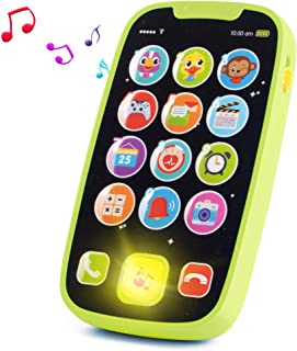 HISTOYE Baby Toys Phone for 1 + Year Old , Sing and Count Toy Cell Phone for Toddlers, Role Play Baby Phone for Early Lear...