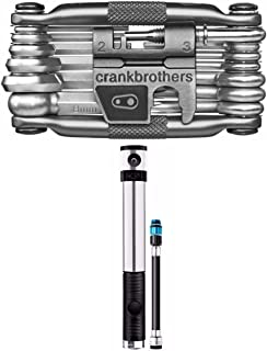CRANKBROTHERs Crank Brothers Compact Klic HP High Pressure Bike Pump and M19 19-Fuction Multi Bicycle Maintenance Tool Kit