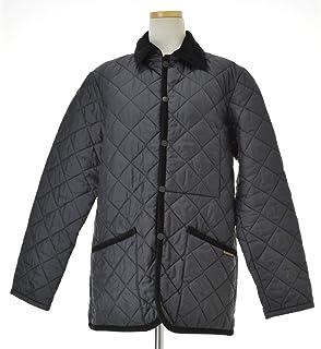 (ラベンハム) LAVENHAM DENHAM BLACK/LONGANBERRY デンハム 襟コーデュロイ 中綿 キルティングジャケット