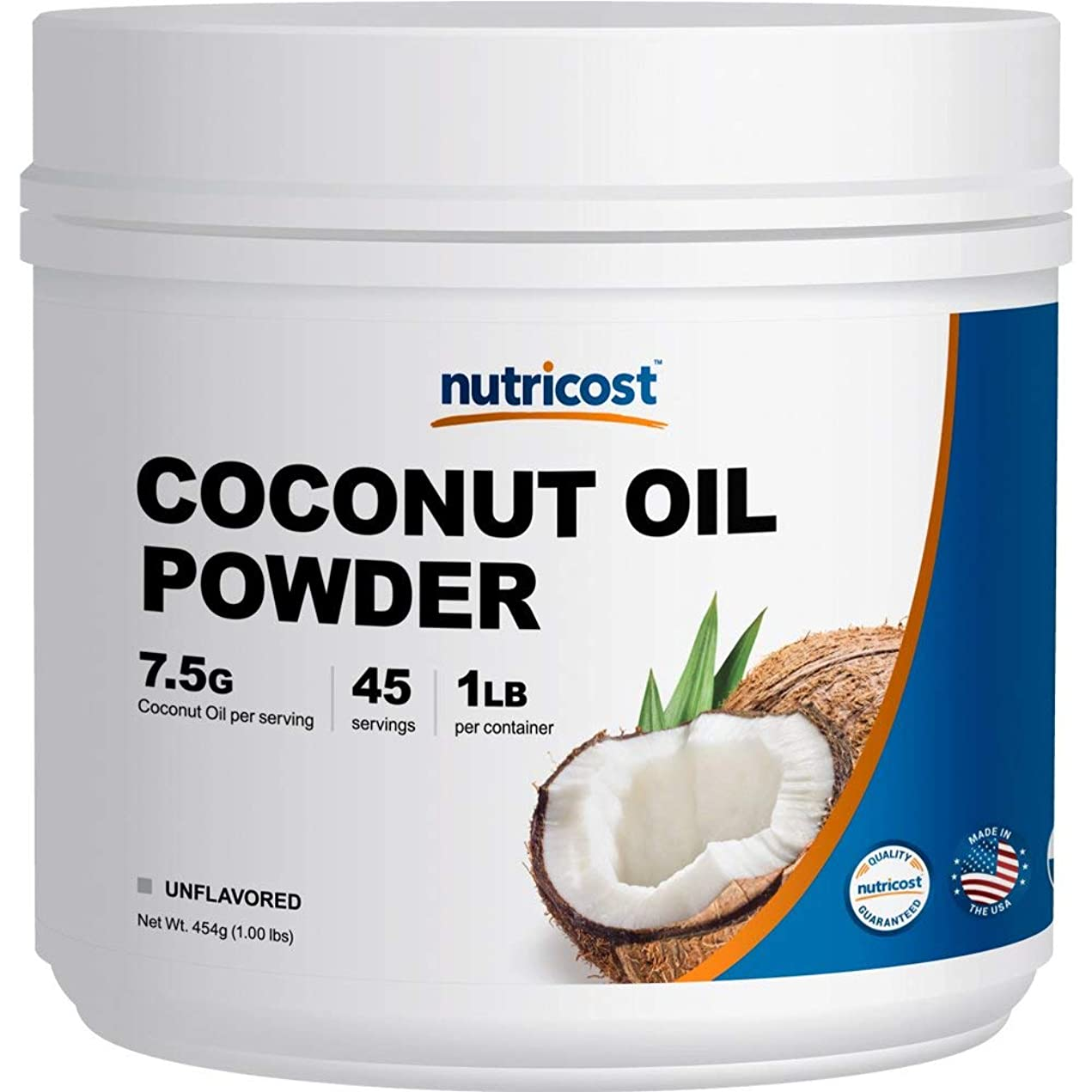 担当者ハードリング経歴Nutricost ココナッツオイルパウダー 1LB、45食分、非GMO、グルテンフリー