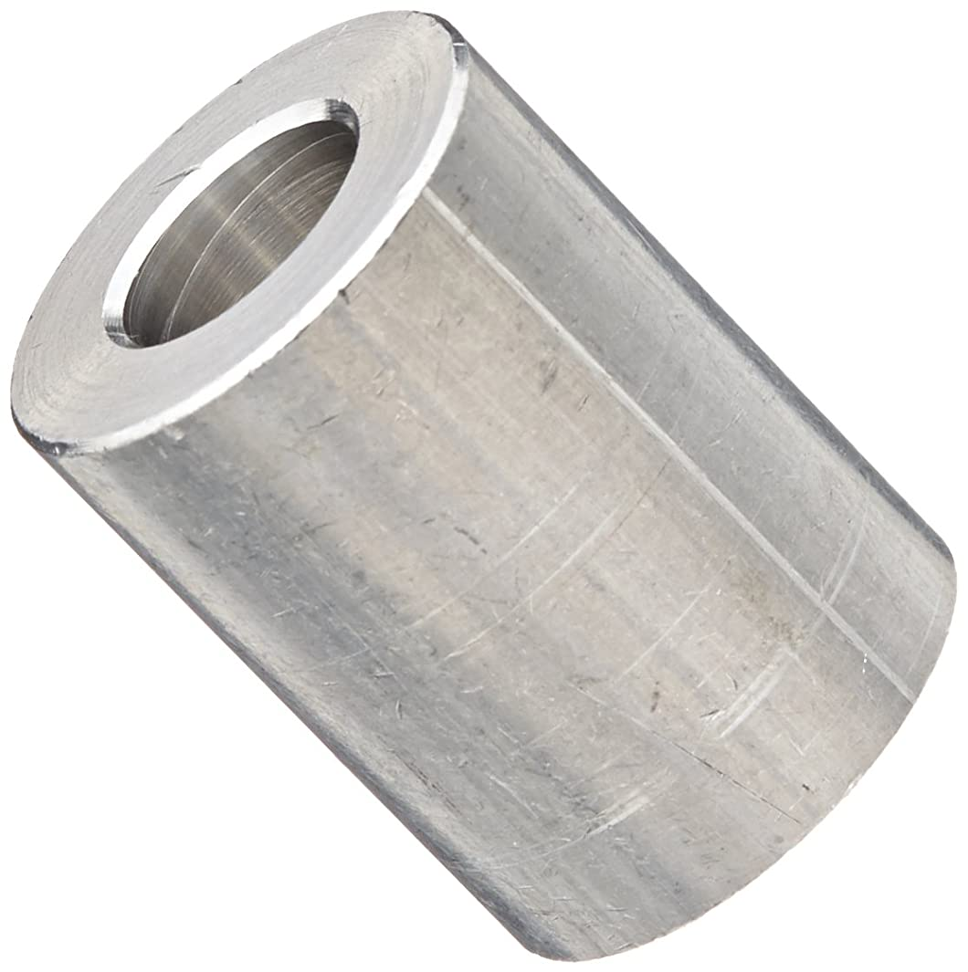 Round Spacer, Aluminum, Plain Finish, 3/8