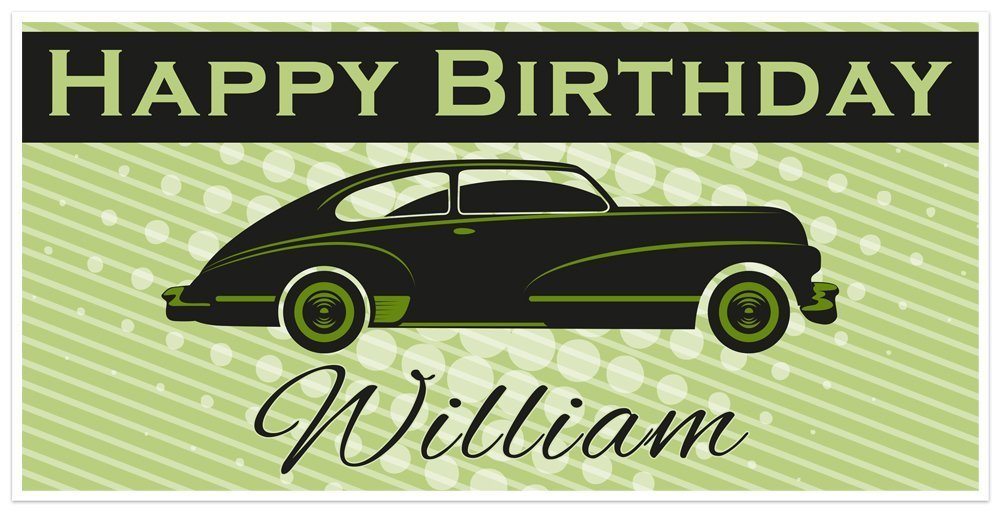 Black Classic Very popular Aero Car Manufacturer OFFicial shop Birthday Banner Personalized Part Vintage