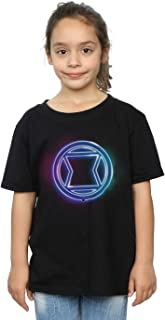 Marvel Girls Black Widow Neon Logo T-Shirt