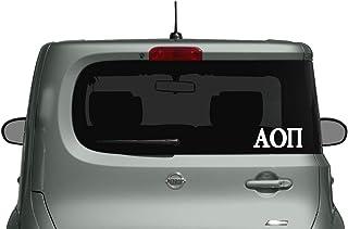 Alpha Omicron Pi - Car, Truck Laptop Decal Sticker (3 Pack) (White)