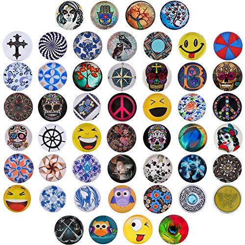 Morella 50 Click-Button Mega Set 18 mm für Halskette Armband und Ring bunter Farbenmix-16