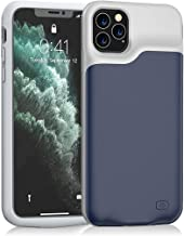 iPhone 11 Pro Battery Case, Euhan 5200mAh Ultra Thin Rechargeable Portable Power Charging Case for iPhone 11 Pro (5.8 inch) Extended Battery Pack Power Bank Charger Case (Blue)