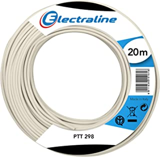 Electraline 60131057E Cable Coil PTT 298 20 m Ivory