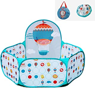 Folding Baby Game Play House - Babies Toddler Colorful Ball Pool Polyester Fabrics Pit Kid's Safety Indoor Nursery (Balls ...