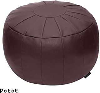Rotot Unstuffed Pouf, Ottoman, Bean Bag Chair, Foot Stool, Foot Rest, Storage Solution or Wedding (Empty & New) (Puce, Brown)
