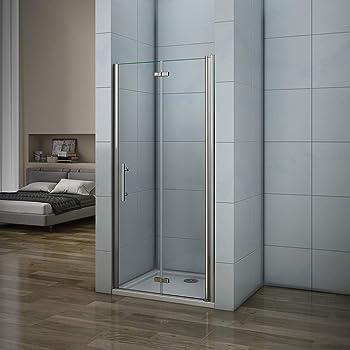 SPAZIO Porte de Douche Saloon pour Niche Transparent 70 cm
