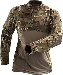 H World Shopping Men's Tactical Combat Hunting Military Long Sleeve Shirt with Zipper MC