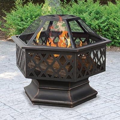 UniFlame Hex Shaped Lattice Fire Pit