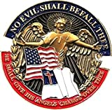 Eagle Crest No Evil Shall Befall Thee Christian Lapel Pin