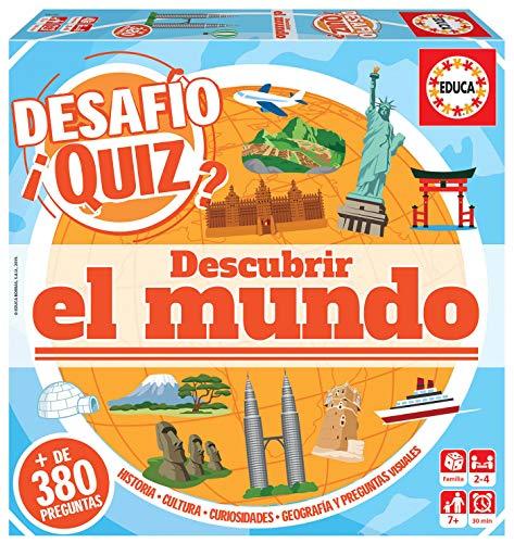 Educa - Desafio Quiz-Descubrir el Mundo Juego de Mesa, Multicolor (18218)