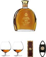 Claude Chatelier Cognac XO mit Etui 0,7 Liter  Cognacglas/Schwenker Stölzle 1 Stück - 103/18  Cognacglas/Schwenker Stölzle 1 Stück - 103/18  BrickHouse Streichhölzer  Buena Vista Zigarrencutter