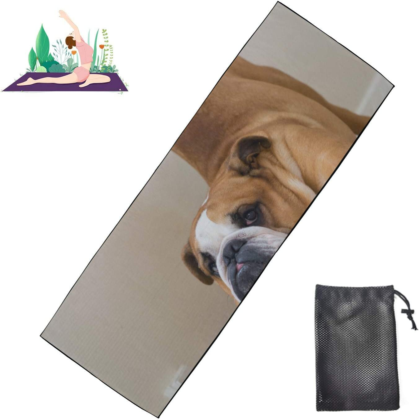 Huqalh Yoga Beach Towel Funny Beagle 2021 spring and summer new Reservation Doing Dog Non Mat