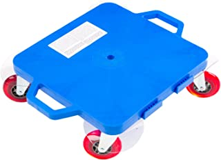 Cosom Scooter Board, 16 Inch Premium Sit & Scoot Board with 4 Inch Non-Marring Performance Wheels, Double Race Bearings, Safety Handles, Physical Education Class Equipment