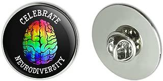 Celebrate Neurodiversity Brain Autism Rainbow Spectrum Metal 1.1