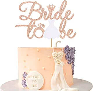 Bride to be Cake Topper Rose Gold for Engagement Hen Party, Wedding, Bachelorette Party Cake Decor Supplies, Bridal Shower...