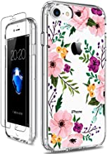 GiiKa iPhone 8 Case, iPhone 7 Case with Screen Protector, Clear Heavy Duty Protective Case Floral Girls Women Hard PC Back...