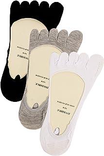 AFROMARKET 5本指靴下 レディース ソックス インビジブルソックス 浅履き フットカバー くるぶしソックス セット
