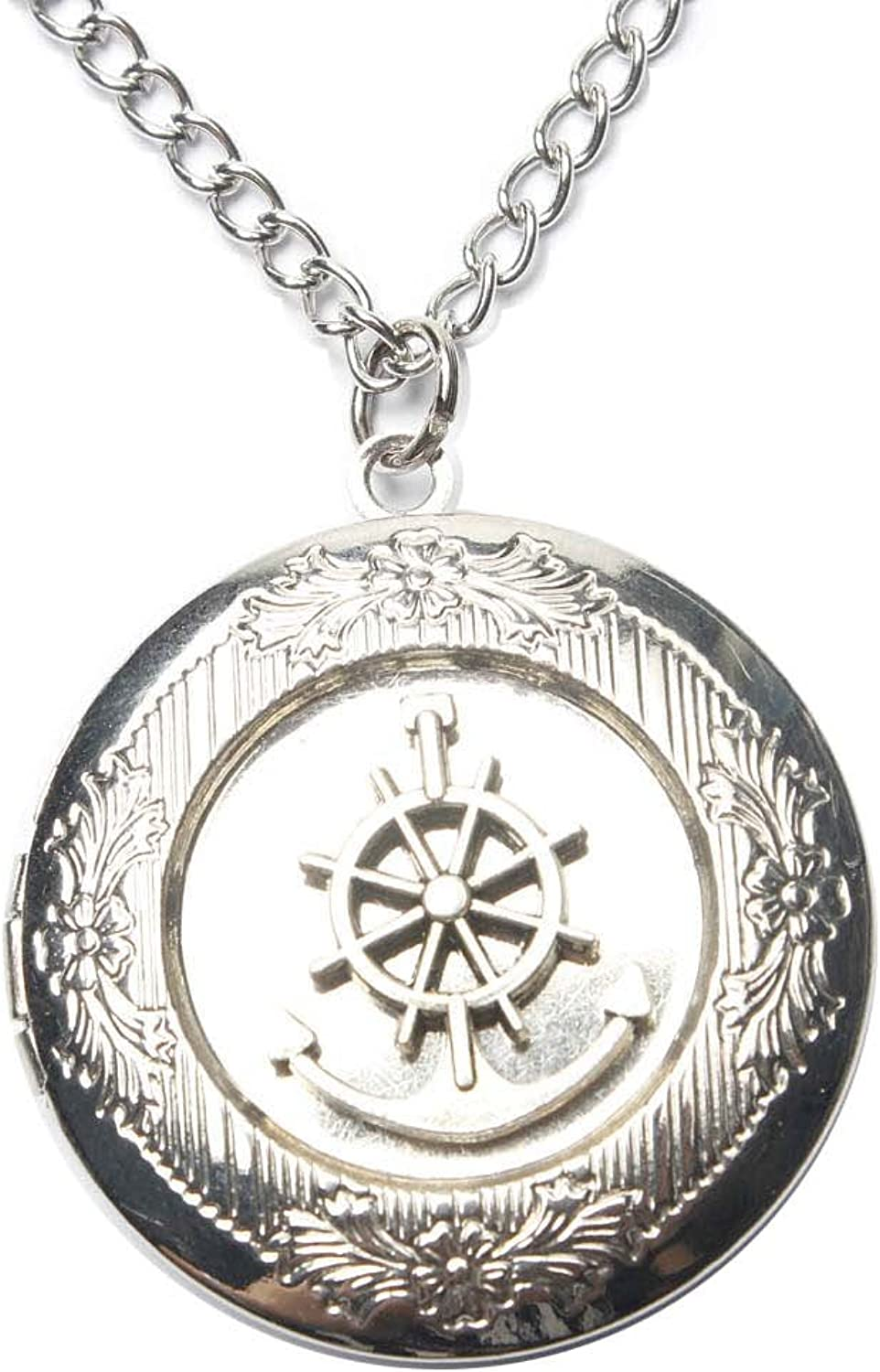 Ancient Houston Mall Silver Anchor Locket Necklace sea Jewelry Nec Nautical Spring new work one after another