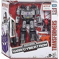 Transformers Netflix War for Cybertron Trilogy Voyager Class Megatron Battle paquete de 3 con Pinpointer y Lionizer