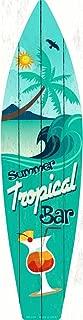 Smart Blonde Tropical Bar Metal Novelty Surf Board Sign SB-020