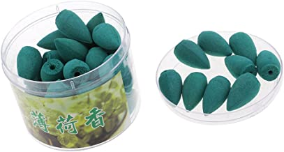 Prettyia Backflow Variety Incense Cones Natural Tower Hollow Incense Cones 50 Grains - Mint
