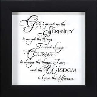 Dicksons God Grant Me The Serenity Clear with Black Script 10 x 10 Glass Wall Sign Plaque