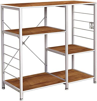 Kawachi 5 Shelves Bookshelves Wall Book Shelf Home Decor Display & Storage Rack Multipurpose Compact PC Workstation