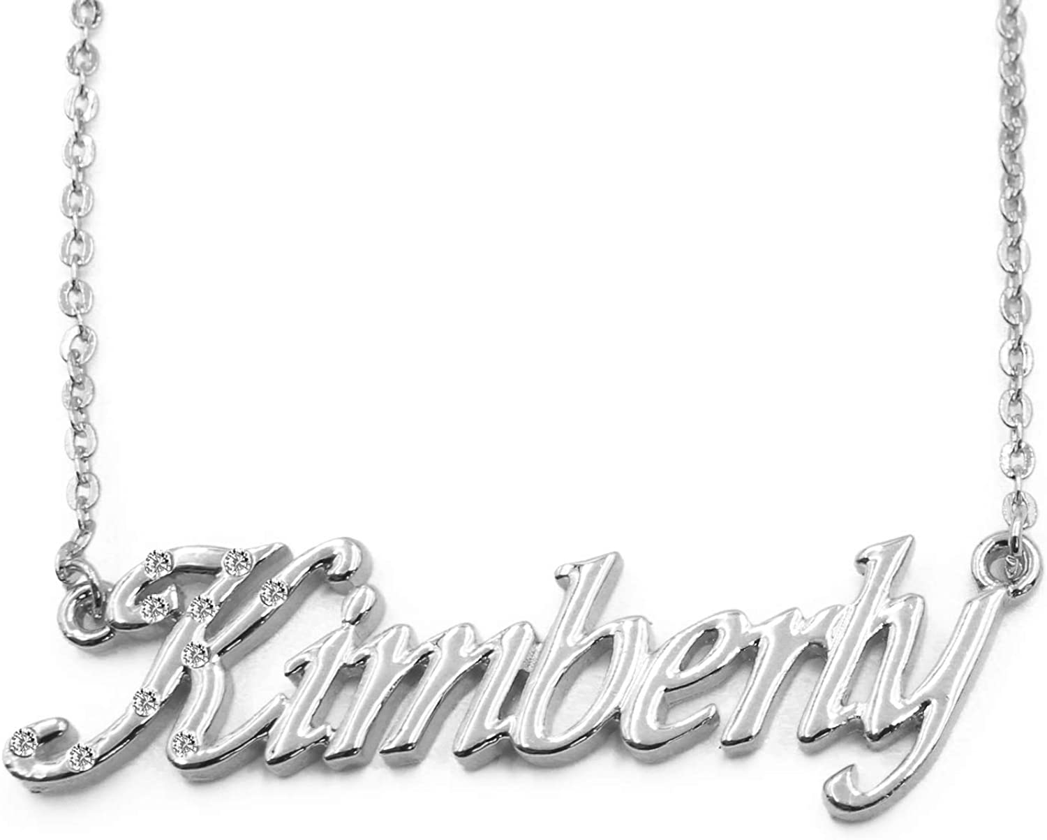Kimberly Name Purchase Necklace 18K White Personalized Dainty Luxury goods Plated Gold