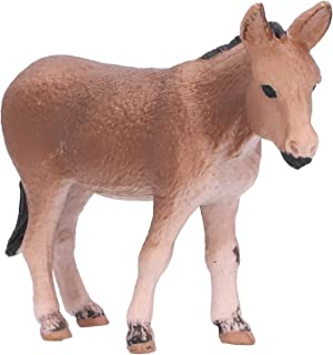 Wild Donkey Toy, Realistic Animals 3.7 X 2.4 X 1in Learning Animal Toy Farm Donkey for Baby Educational for Kids Gift