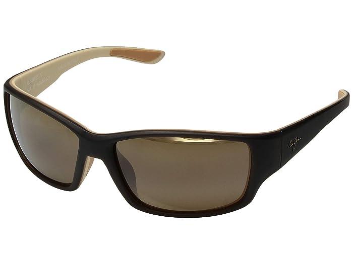 Maui Jim  Local Kine (Matte Dark Transparent Brown/Tan/Cream/HCL Bronze) Fashion Sunglasses