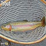 2021 Trout Wall Calendar by Bright Day, 12 x 12 Inch, Sportsman Fishing Freshwater Lure Angler