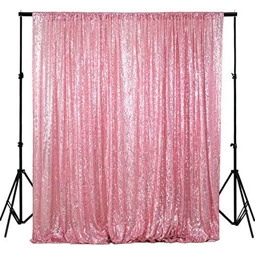 ShiDianYi 4FTX6FT-Fuchsia Pink-Sequin Photo Backdrop, Wedding Photo Booth,Photography Background (Fuchsia Pink)