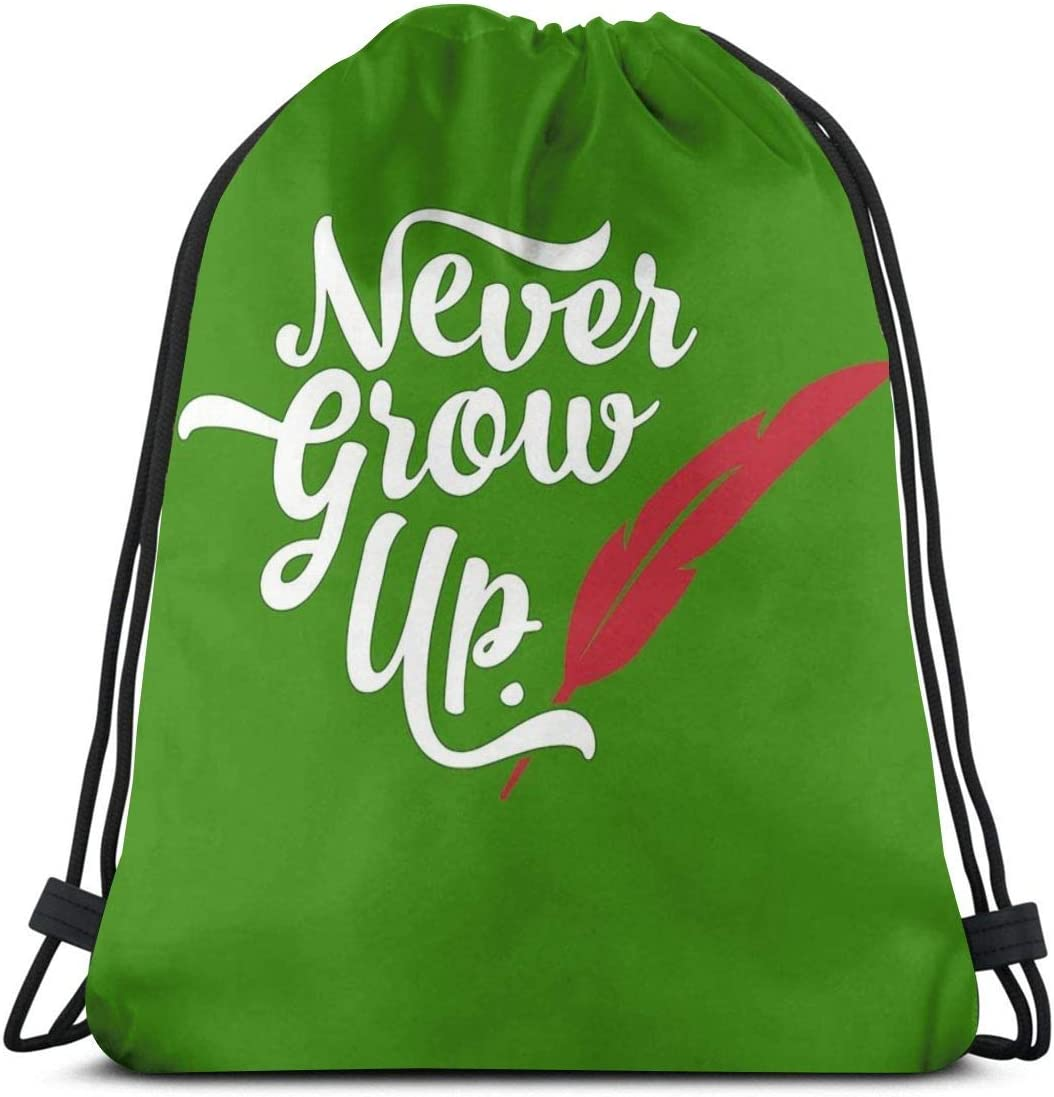 Ady Peter Pan - Never Grow Drawstring Bags New We OFFer at cheap prices York Mall Gym Up. Bag