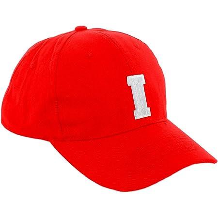 Morefaz - Gorra de béisbol roja infantil unisex, diseño con letras de A - Z
