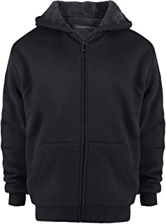 Sherpa Lined Boys Hoodie Full Zip Fleece Warm Youth Big Long Sleeve Child Sweatshirts