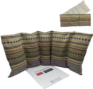 """Cuscino termico """"BEIGE"""" - con coperchio lavabile - 50 x 20 cm (XL) - pieno di noccioli di ciliegia 800gr - effetto freddo/..."""