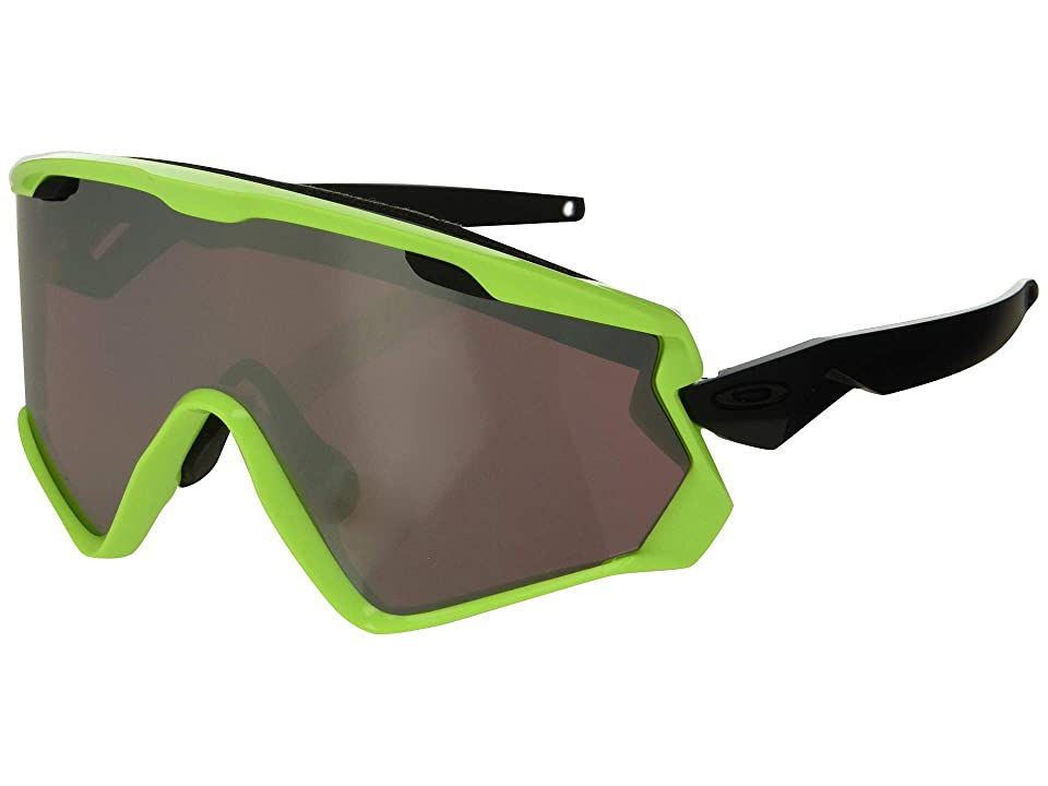 Oakley Wind Jacket 2.0 Snow (Neon Retina Burn w/ Prizm Snow Black) Athletic Performance Sport Sunglasses