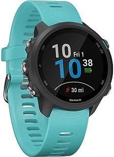 Garmin Forerunner 245 Music, Orologio Smart GPS per la Corsa e Altri Sport Unisex Black/Aqua