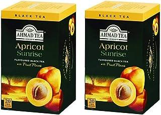 Ahmad Tea Apricot Sunrise , Tea Bags, 20-Count Boxes(Pack of 2)