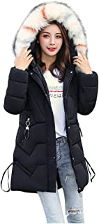 2019 Women's Warm Puffer Coat, JMETRIE Winter Ultra Soft Casual Parka Faux Fur Trim Hooded Jacket