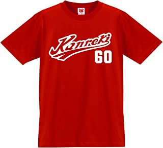 シャレもん 名入れ 還暦祝い 父 母 還暦 赤い tシャツ メンズ レディース 【Kanrekiユニフォーム】プレゼント