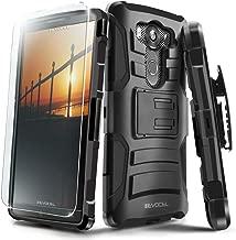 LG V10 Case, Evocel [Generation Series] Belt Clip Holster, Kickstand, HD Screen Protector, Dual Layer for LG V10 (H901), Black (EVO-LGV10-AB201)
