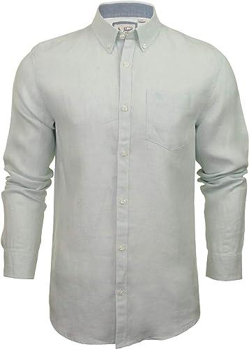 Original Penguin - 'Core Washed Line' - Chemise décontractée - Aucun modèle - avec col - Manches Longues - Homme (Bleu Pastel) M