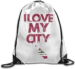 PRIMEEE California Drawstring Backpack Sack Bag