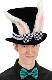 Elope Black Costume Top Hat with White Rabbit Ears
